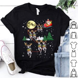 Beautiful Funny Reindeer Whippets Xmas Christmas Dog Lovers Gift shirt
