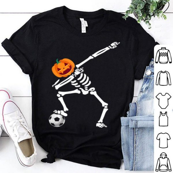 Beautiful Halloween Costume Dabbing Skeleton Soccer Gift shirt