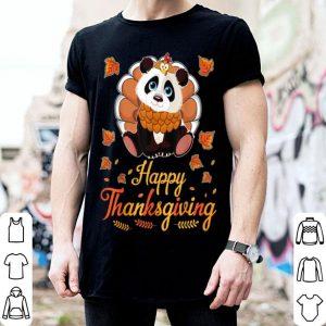 Beautiful Lovely Turkey Panda Happy Halloween Thanksgiving Day shirt