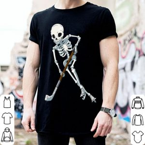 Beautiful Skeleton Ice Hockey Halloween Funny Skull Gifts Tees shirt