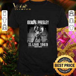 Cheap Elvis Presley signature 50 years live 1969-2019 shirt