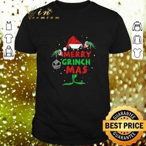 Cheap Jack Skellington Merry Grinch Mas Christmas shirt