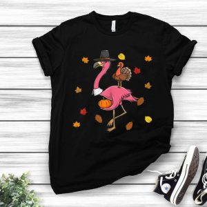 Flamingo With Turkey Thanksgiving Pilgrim shirt