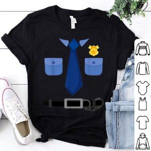 Funny Cute Halloween Police Costume Gift Men Women Kid shirt