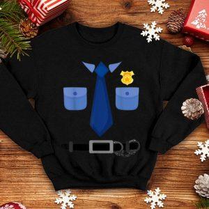 Funny Cute Halloween Police Costume Gift Men Women Kid shirt
