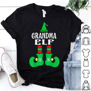 Funny Grandma ELF Matching Family Christmas Group Ugly shirt