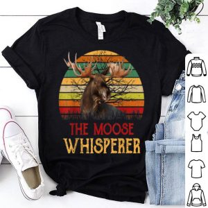 Funny Retro Vintage The Moose Whisperer Moose Lover Gifts shirt
