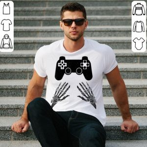 Halloween Funny Skeleton Video Gamer Costume Boys Teens Men shirt