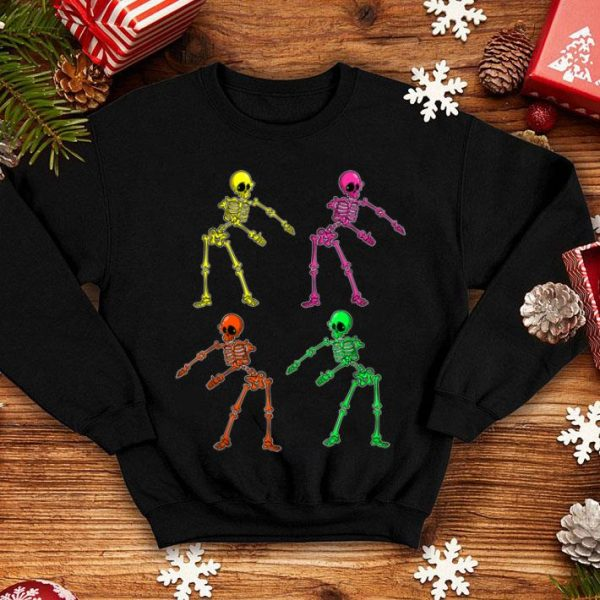 Hot 80's Style Flossing Skeleton Gift shirt