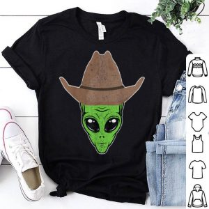 Hot Alien Cowboy Hat Funny Halloween Gift for Outer Space Lover shirt