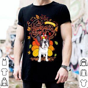 Hot French bulldog Wearing Turkey Hat Fall Autumn Thanksgiving shirt