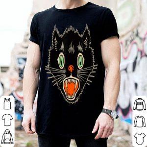 Hot Vintage Halloween Scary Black Cat Horror Gift shirt