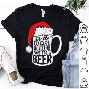 Nice Christmas Men It's The Most Wonderful Time For A Beer shirt