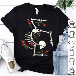 Nice Cute Gymnastics Skeleton Halloween Costume shirt
