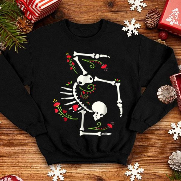 Nice Cute Gymnastics Skeleton Halloween Costume shirt