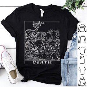 Nice Death Tarot Card Headless Horseman Gothic Halloween Gift shirt