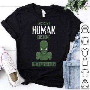 Nice Halloween Creepy Alien Costume Funny Party Trick Gift shirt