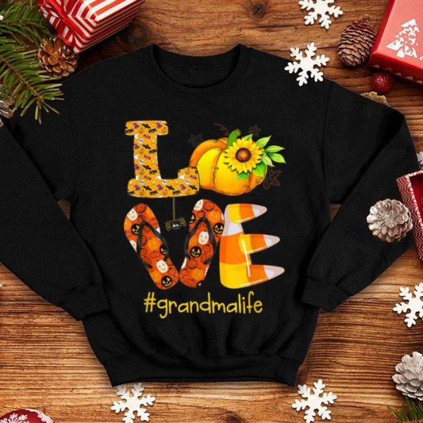 Nice Love grandma life- Halloween sunflower Pumpkin shirt