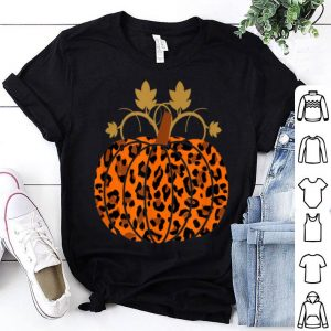 Official Animal Leopard Print Pumpkin Halloween Fall Autumn gift shirt