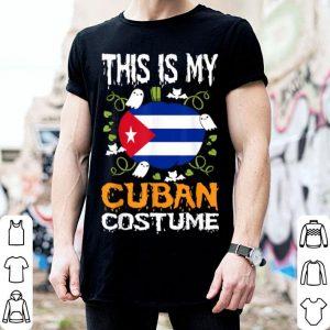 Official Cuban Costume Funny Flag Halloween Cuba shirt