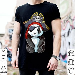 Official Panda Pirate Jolly Roger Flag Skull and Crossbones shirt
