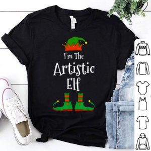 Original I'm The Artistic Elf Family Matching Funny Christmas Gift shirt