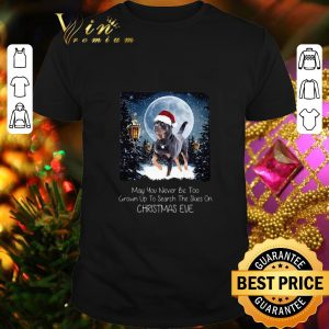 Premium Rottweiler may you never be too grown up to search the skies on Christmas eve shirt