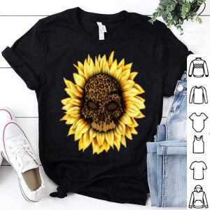 Premium Skull Sunflower Leopard Halloween Women shirt
