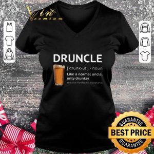 Pretty Beer Druncle like a normal uncle only drunker shirt