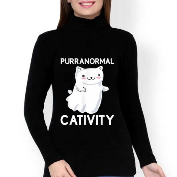 Purranormal Cativity Ghost Halloween Cat Lovers shirt