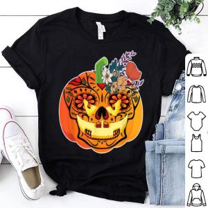 Top Day of the Dead Sugar skull in Pumpkin Halloween shirt