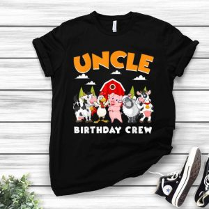 Uncle Birthday Crew Farm Animals shirt