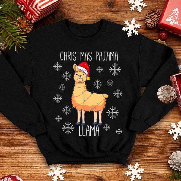 Awesome Christmas Pajama Llama, Cute Family Matching Xmas Women sweater