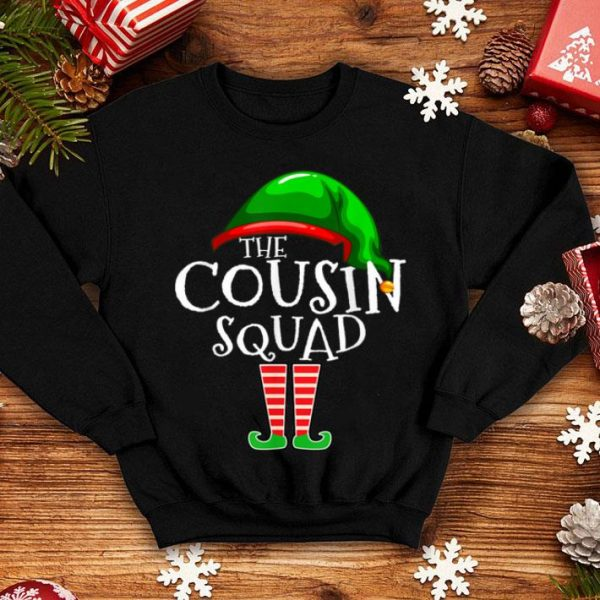 Awesome Cousin Squad Elf Family Matching Group Christmas Gift Funny shirt