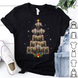 Awesome Elephant Christmas Tree Merry Xmas Elephant Gifts Tee shirt