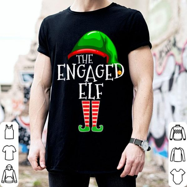 Awesome Engaged Elf Family Matching Group Christmas Gift Engagement shirt