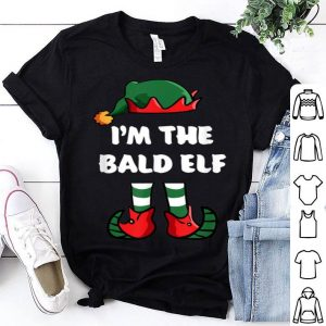 Awesome I'm The Bald Elf Matching Family Group Funny Christmas shirt