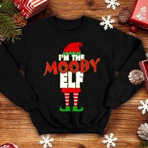 Awesome I'm The Moody Elf Christmas Matching Elves Family Group shirt