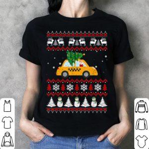 Awesome Merry Christmas Tree Taxicab Santa Driver Ugly Xmas Gift shirt