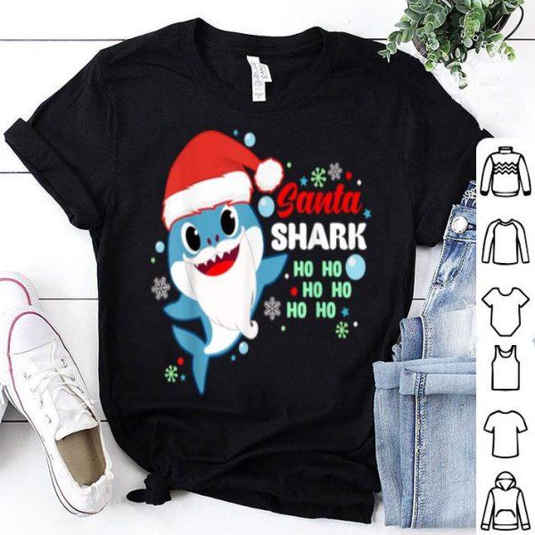 Awesome Santa Shark Ho Ho Ho Perfect Shark Gift Christmas shirt