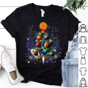 Awesome Solar System Planets Christmas Tree gift decor Xmas tree shirt
