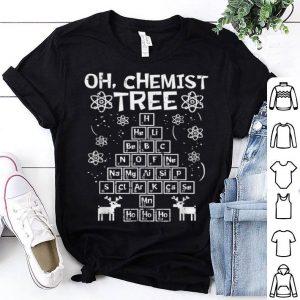 Beautiful Christmas Oh Chemist Tree Ho Chemistry Student Gift shirt