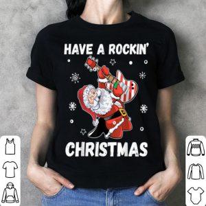 Beautiful Have a Rockin' Christmas Guitarist Santa Guitar Xmas Gift shirt