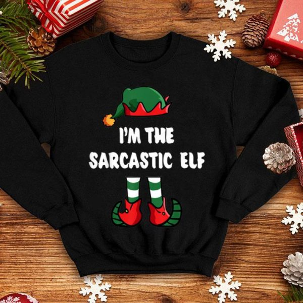 Beautiful I'm The Sarcastic Elf Matching Family Group Funny Christmas shirt