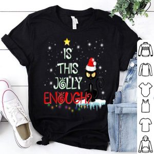 Beautiful Is This Jolly Enough Funny Cat Santa Hat Christmas Gift sweater