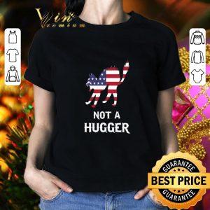 Cheap American flag cat not a hugger shirt