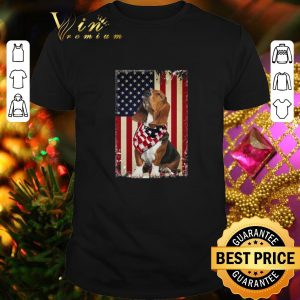 Cheap Basset Hound American Flag july 4th independence day shirt