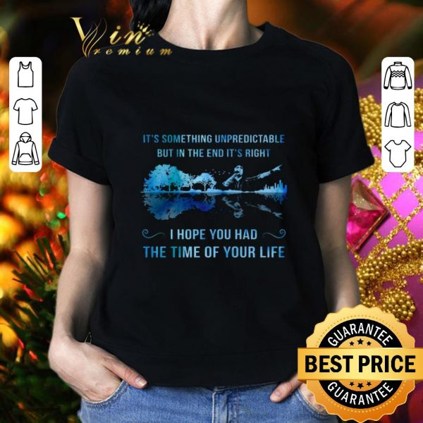 Cheap It's something unpredictable Good Riddance Time Of Your Life shirt