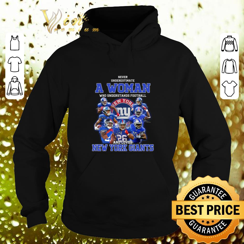 Cheap Never underestimate a woman who understands New York Giants shirt 4 - Cheap Never underestimate a woman who understands New York Giants shirt