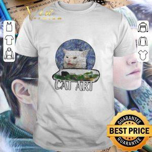 Funny Angry Yelling At Confused Cat At Dinner Table Meme 2020 shirt